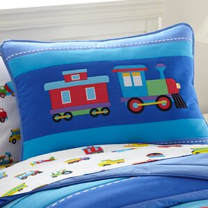 olive kids trains planes and trucks toddler pillow case