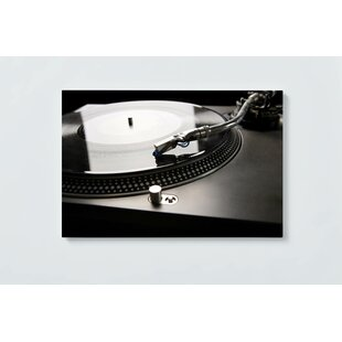 Record Player Magnetic Wall Mounted Cork Board By Ebern Designs