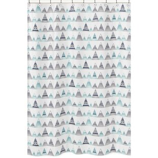 Mountains Single Shower Curtain by Sweet Jojo Designs Cheap
