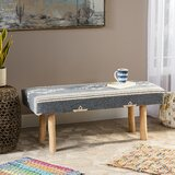 Aida Upholstered Bench by Bungalow Rose