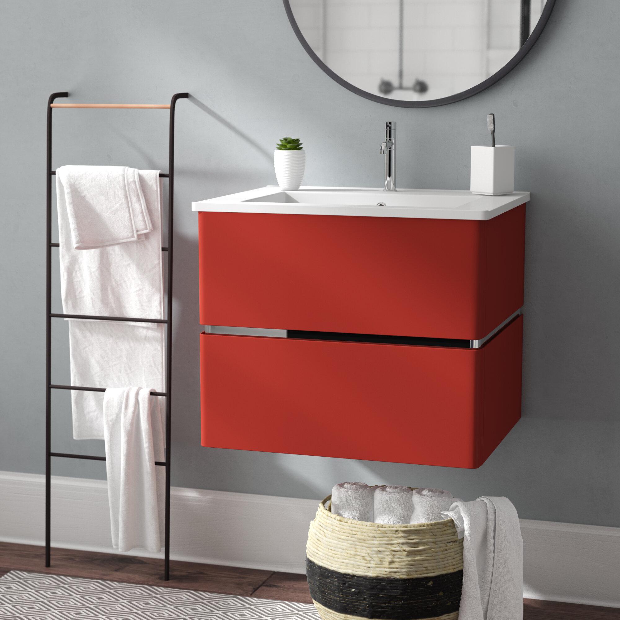 Orren Ellis Stellan 24 Single Bathroom Vanity Set Reviews Wayfair