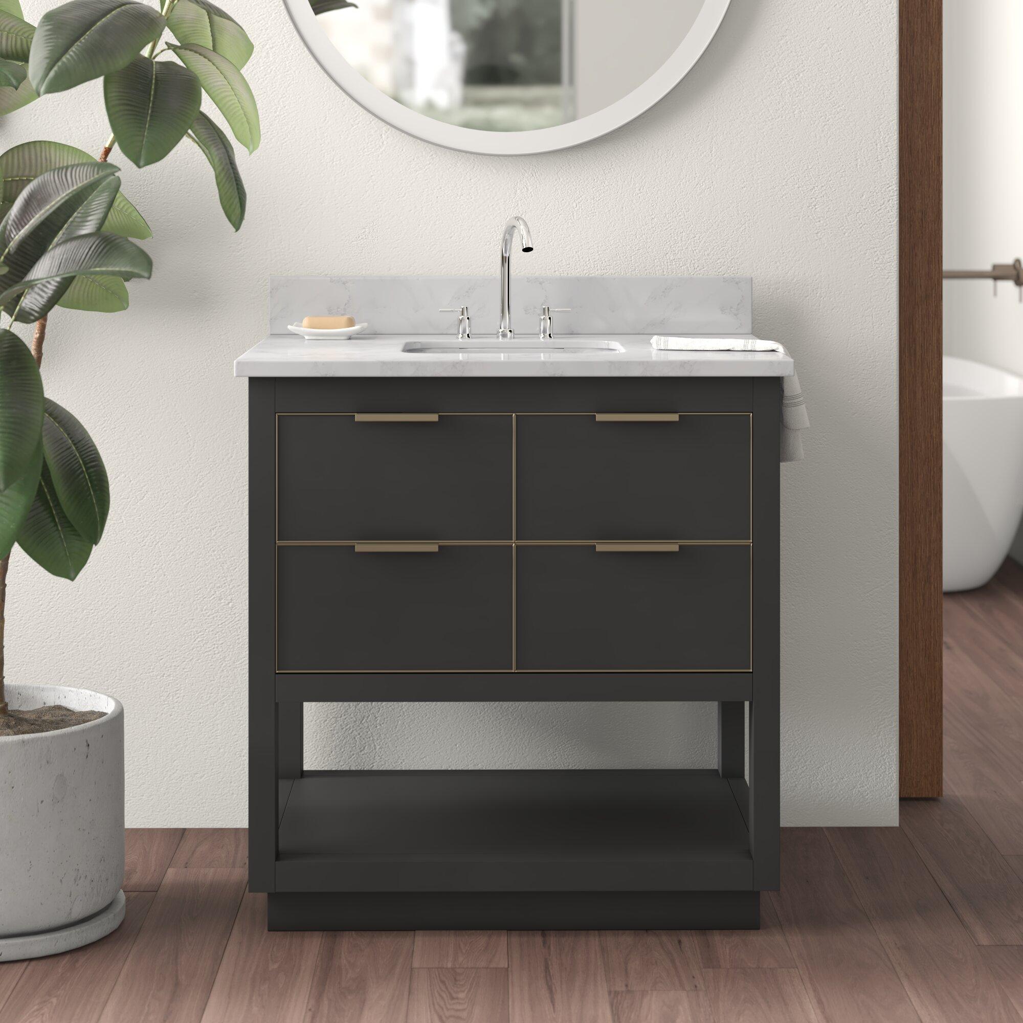 Edmund 31 Single Bathroom Vanity Set Reviews Allmodern