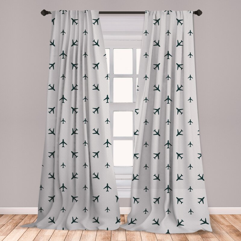 Ambesonne Room Decor Curtains Panels Set of 2 Window Drapes with Rod Pocket