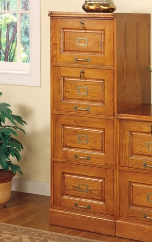 Beau Paulina 4 Drawer File Cabinet