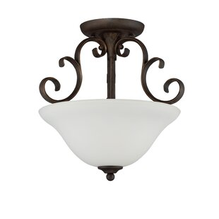 Chalfont 3-Light Semi Flush Mount by Fleur De Lis Living