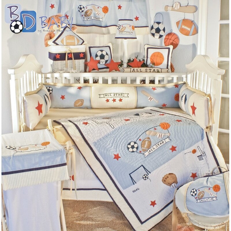 Construction Trucks 13 pcs Crib Bedding Set Baby Boy Nursery Quilt Bumper Diaper