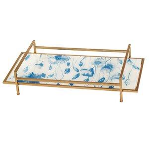 Rectangle Glass/Metal  Tray