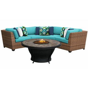 Waterbury 4 Piece Sectional Seating Group with Cushions