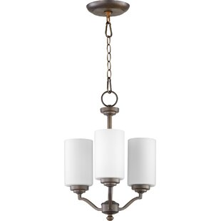 Quorum Atwood 3-Light Shaded Chandelier