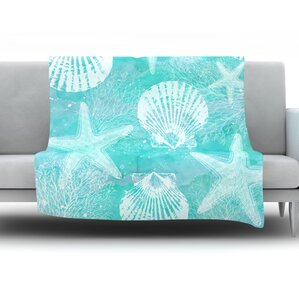 seaside by sylvia cook fleece throw blanket - Fleece Throws