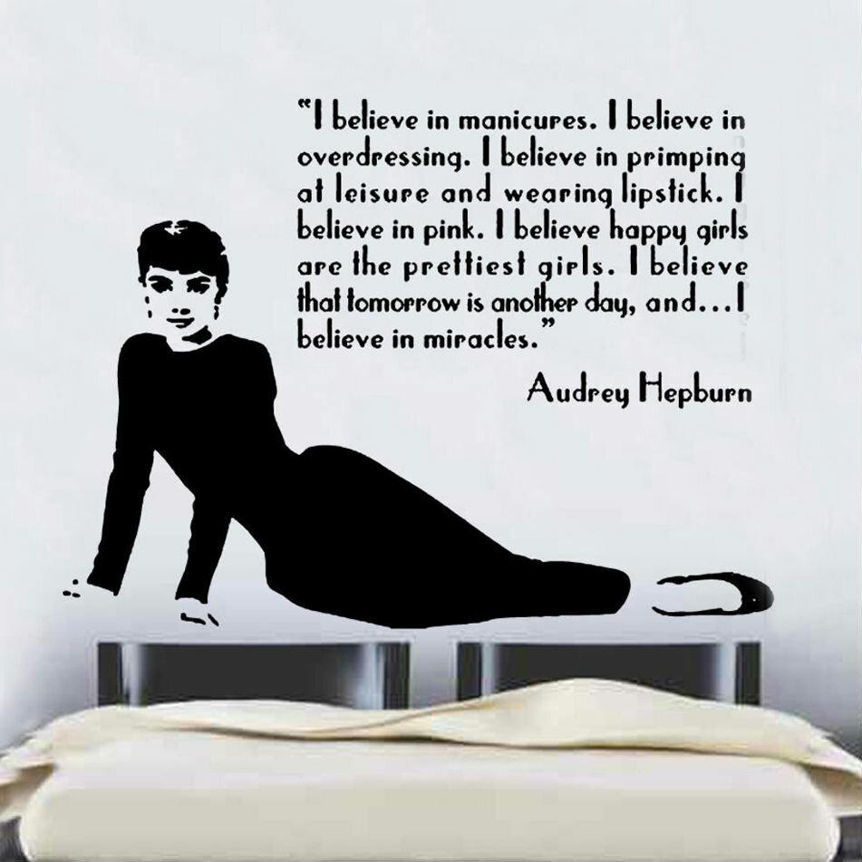 East Urban Home Wandtattoo Audrey Hepburn Zitat Design 2