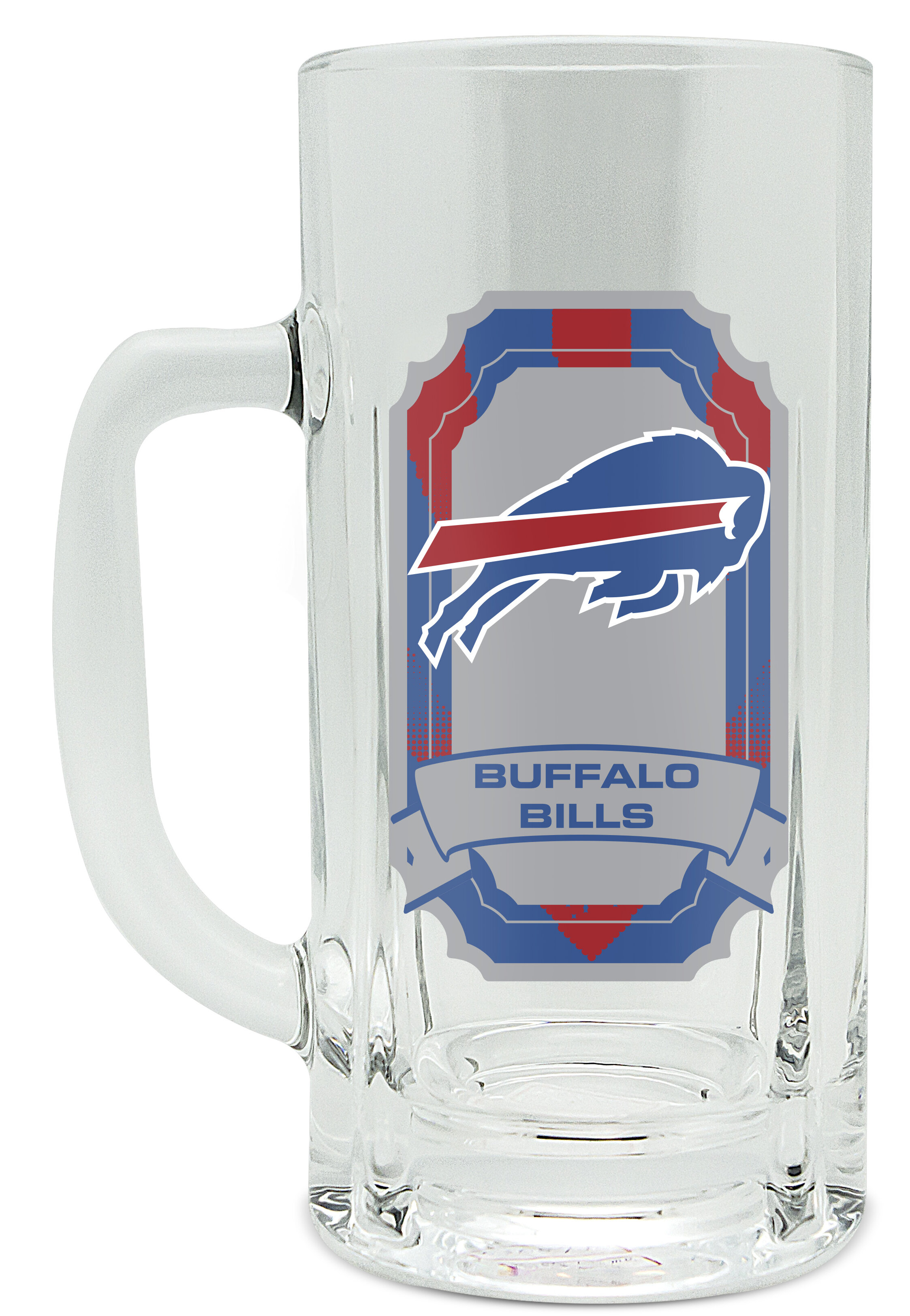 NFL 20oz Heavy Duty Glass Kraft Mug