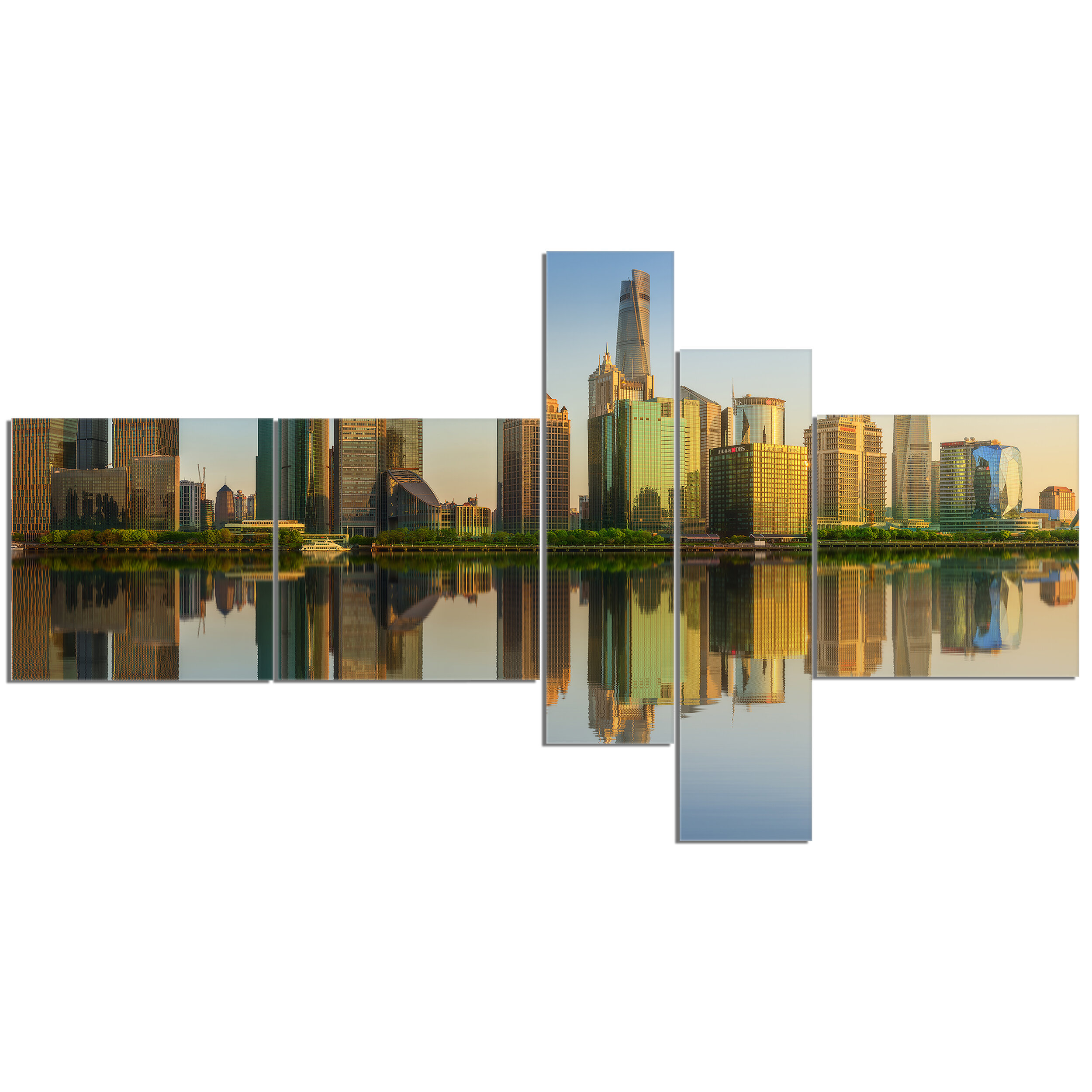 East Urban Home Shanghai Huangpu River At Sunset Photographic Print Multi Piece Image On Canvas Wayfair