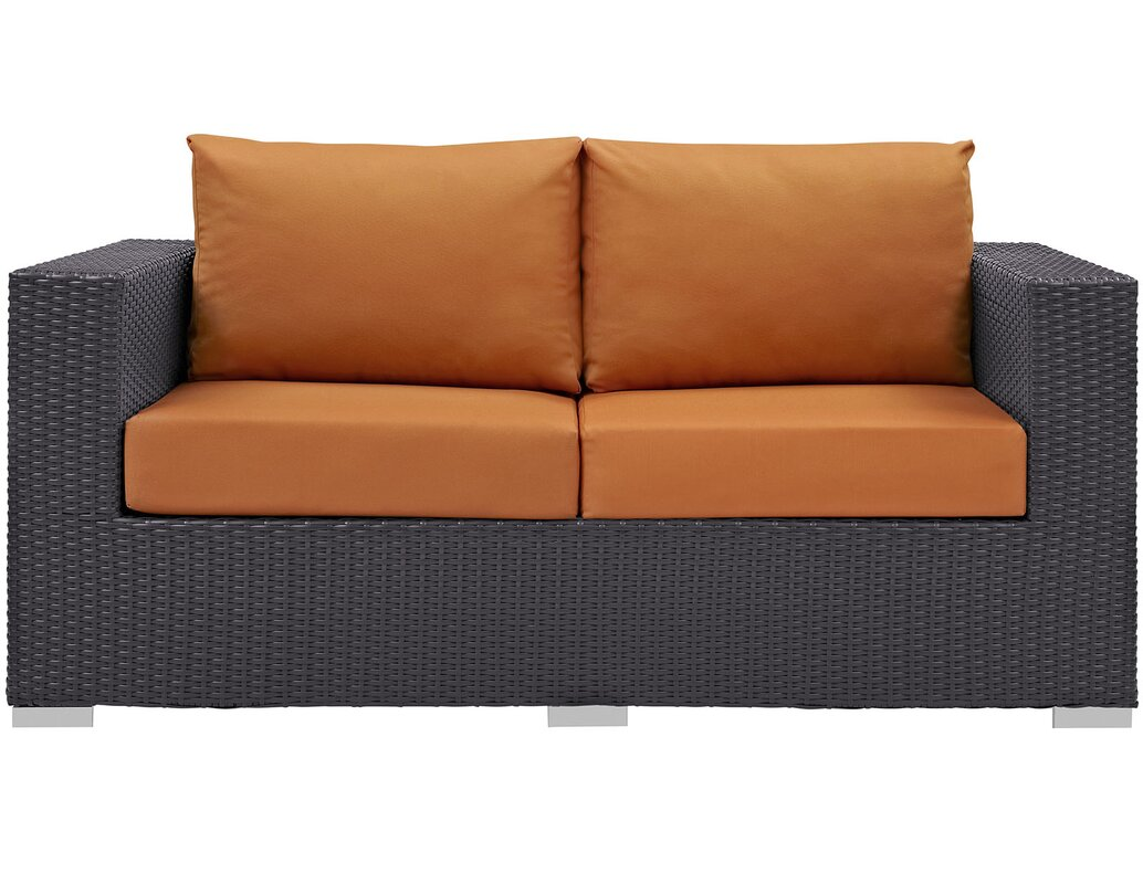 Patio Sofa Bed By Anika Patio Loveseat With Cushions U0026 Reviews  Birch Lane