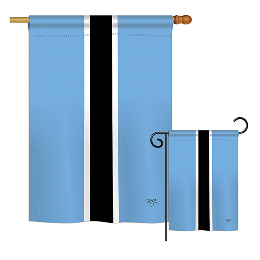 Breeze Decor 2 Piece Botswana Of The World Nationality Impressions Decorative Vertical 2 Sided Polyester Flag Set Wayfair