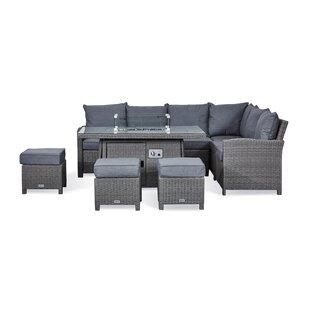 Replogle 9 Seater Rattan Effect Corner Sofa Set Image