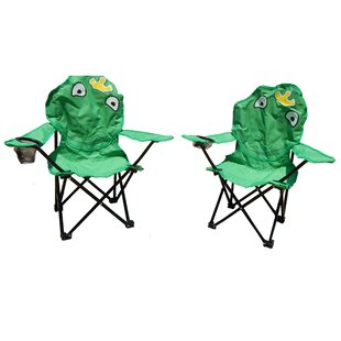 Skyler Frog Folding Kids Chair Set (Set of 2) by Zoomie Kids