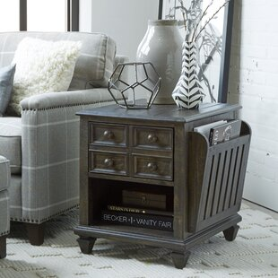 Comparison Siri Magazine End Table with Storage by Gracie Oaks