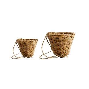Brendan 2 Piece Natural Fibre Hanging Basket Set By Freeport Park
