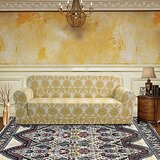 Stylish Printed Box Cushion Sofa Slipcover by Winston Porter
