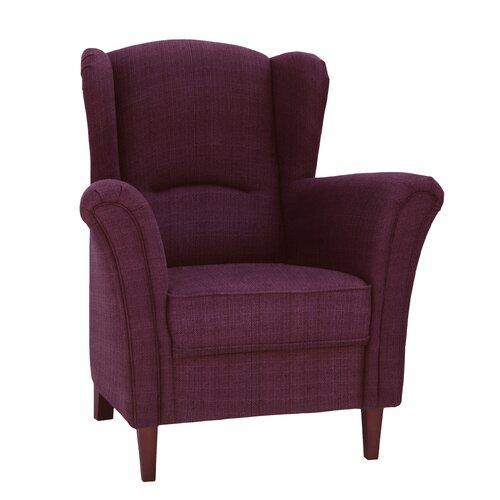 Lissa Wingback Chair August Grove Colour: Plum