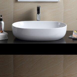 Buy clear Modern Vitreous China Oval Vessel Bathroom Sink ByFine Fixtures