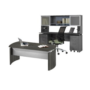 Medina Series 3 Piece Desk Office Suite by Mayline Group Savings