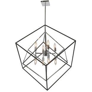 Etienne 8-Light LED Geometric Chandelier by Wrought Studio