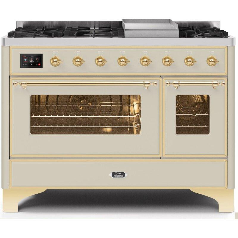 30 Nostalgie 5 Burner Gas Range Gloss Black Convection Oven /& Infrared Broiler Finish
