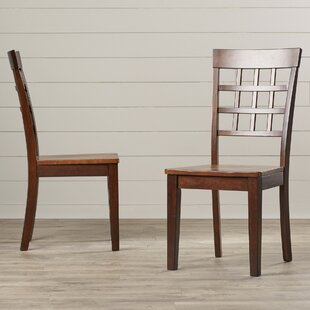 Dixon Gridback Side Chair (Set Of 2) by Red Barrel Studio Savings
