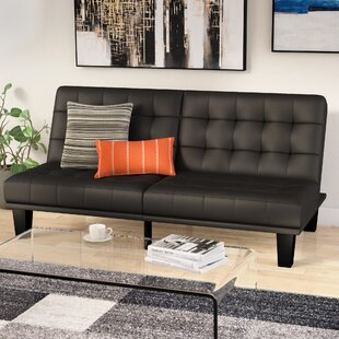 Haysi Futon Lounger Convertible Sofa by Wade Logan
