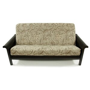 Floral Chenille Box Cushion Futon Slipcover by Easy Fit