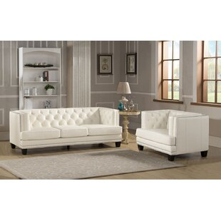 Online Reviews Crewellwalk 2 Piece Leather Living Room Set by Rosdorf Park Reviews (2019) & Buyer's Guide