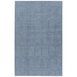 Acadia Hand-Tufted Dark Blue Indoor/Outdoor Area Rug By Wrought Studio