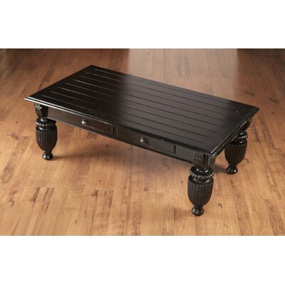 Darby Home Co Bevill Slat Top Coffee Table with Storage