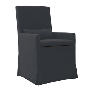 Hoang Arm Dining Charcoal Gray Upholstered Dining Chair by Gracie Oaks