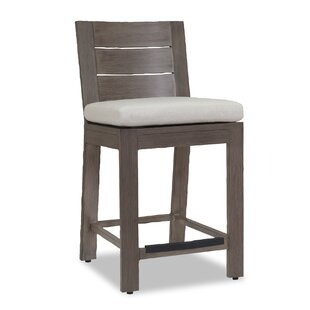 Laguna Flax 44 Patio Bar Stool with Cushion Sunset West