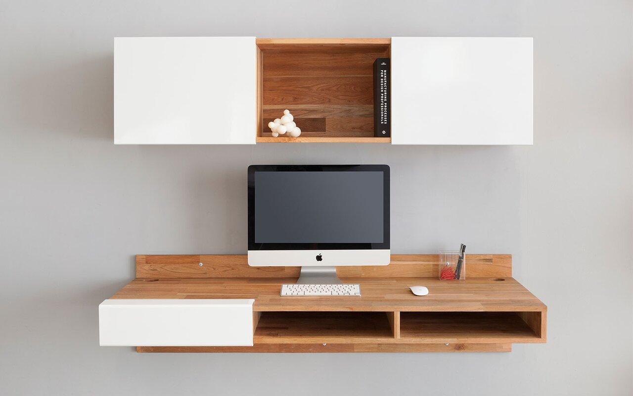 Laxseries Floating Desk Amp Reviews Allmodern