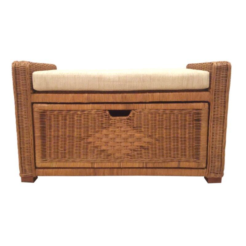 Charmant Eva Rattan Wicker Storage Bench
