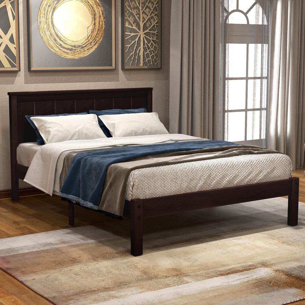 Black Wood Platform Beds You Ll Love In 2021 Wayfair