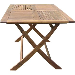 Harmond Folding Wooden Dining Table