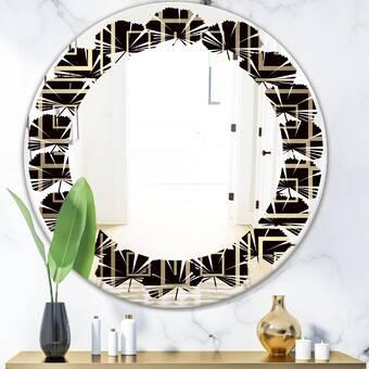 August Grove Meltham Round Silver Antiqued Framed Accent Mirror Wayfair