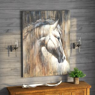 Texas Horse I Oil Painting Print On Wred Canvas