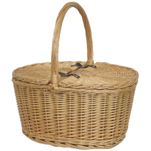 Buff Oval Picnic Basket By Brambly Cottage