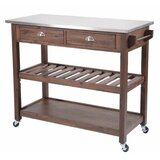 Grover Wooden Kitchen Cart with Metal by Gracie Oaks