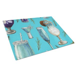 Glass Drinks and Cocktails Cutting Board