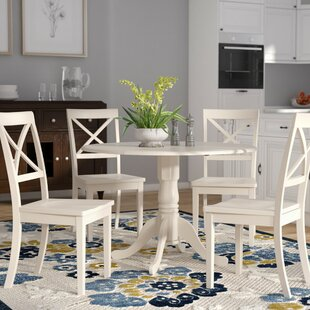 Spruill 5 Piece Drop Leaf Dining Set by A..
