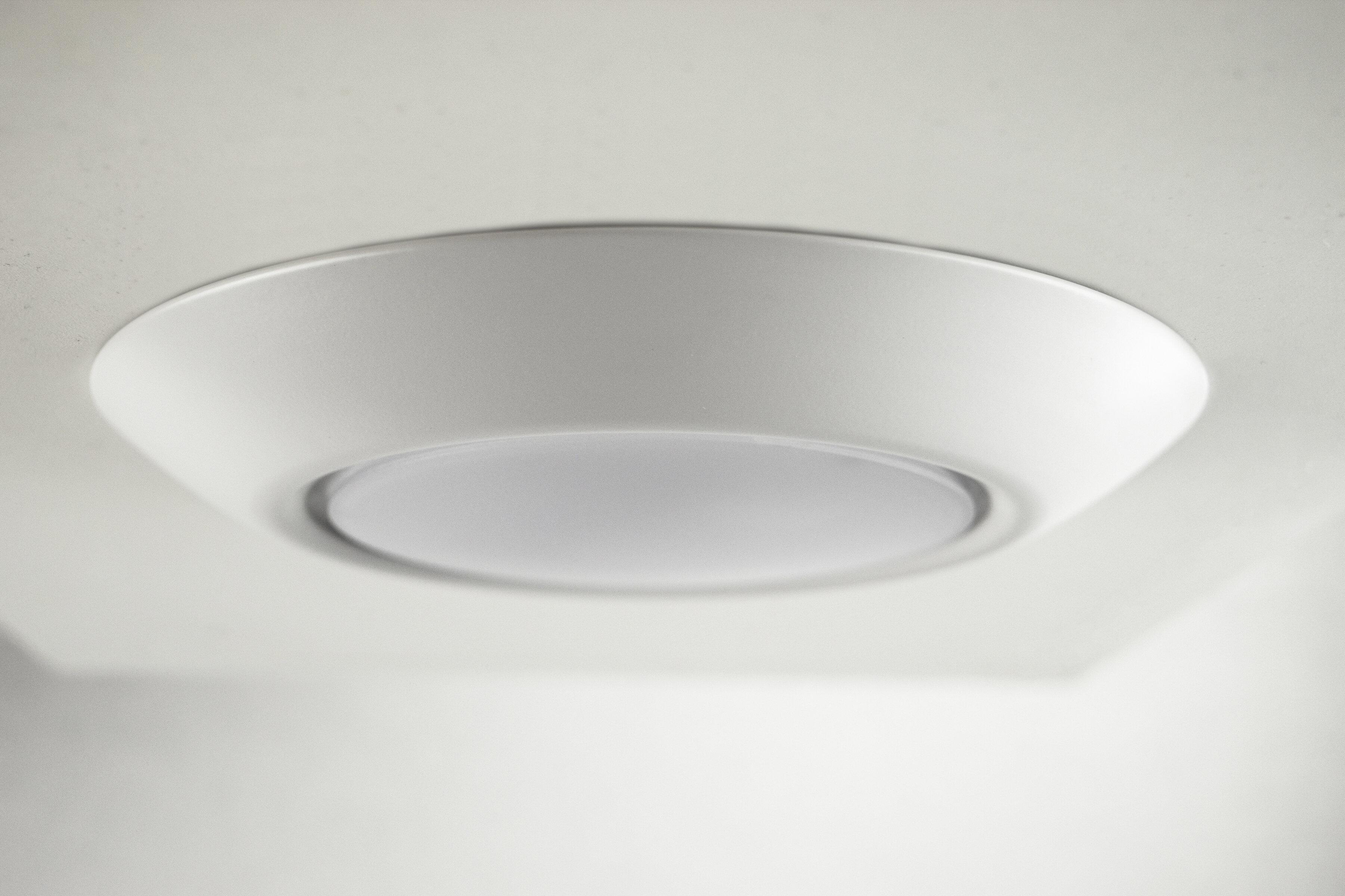 Ebern Designs Lospalmos 1 Light 7 5 Simple Circle Led Flush Mount Reviews Wayfair