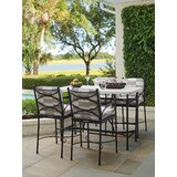 5 Piece Bar Height Dining Set with Sunbrella Cushions