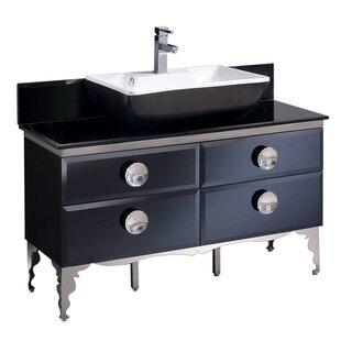Moselle Glass 47 Single Bathroom Vanity Set
